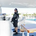 Whale watching boat crew